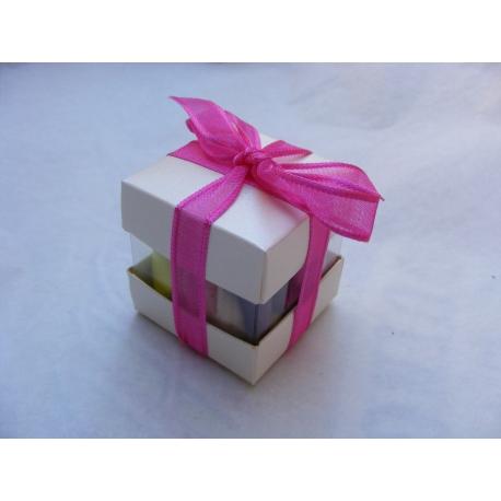 Mini cube duo ivoire nacré par 10