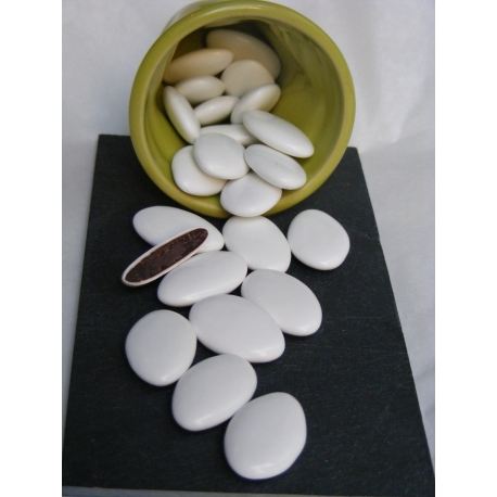 Dragées Chocolat 70% Blanc Brillant