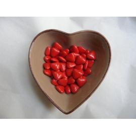 Dragées coeurs 70% noir Rouge