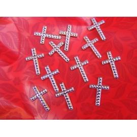 12 croix à coller couleur or
