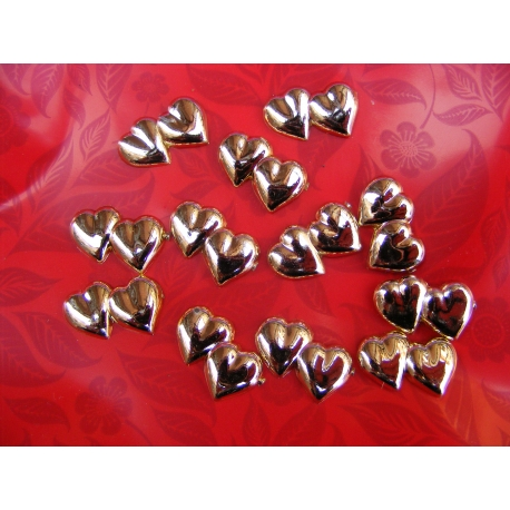 12 coeurs a coller or