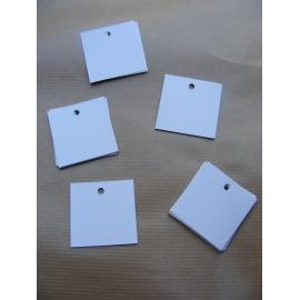 25 étiquettes carrée blanche
