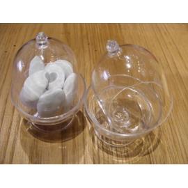 Mini Bonbonnière transparente par 4 PVC