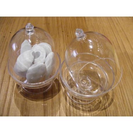 Mini Bonbonnière transparente par 5