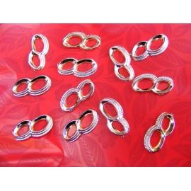 12 anneaux à coller couleur or