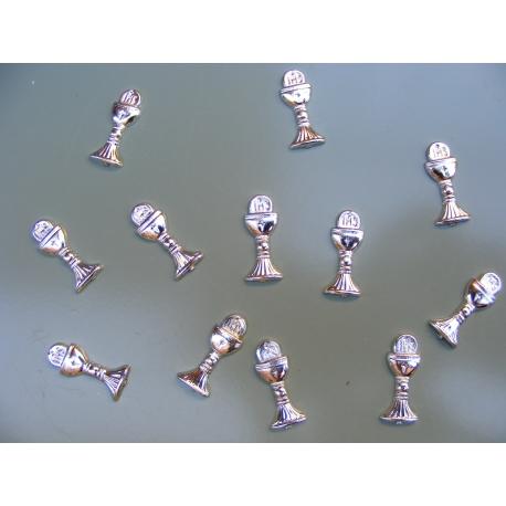 12 calices à coller couleur argent