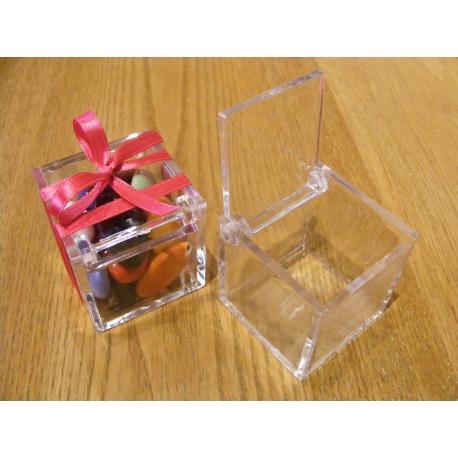 Cubes transparents PVC par 6
